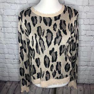 Fate Animal Print Sweater